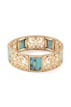 Ella Filigree Bracelet in Turquoise