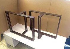 Design Dining Table Legs Set of 2 Steel Legs Design Heavy