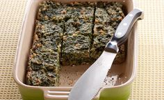 Lunch/Dinner: Sylvie's Lunchbox Spinach Squares calories/serving) serve with grilled chicken and sweet potatoes Epicure Recipes, Gf Recipes, Side Recipes, 100 Calories, Lunchbox Kids, Food For The Gods, Boite A Lunch, Good Food, Yummy Food