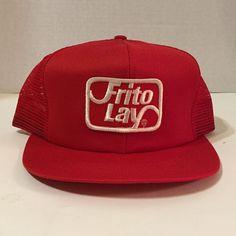 8c481c51b87 Frito Lay Vintage Red Mesh Snapback White Logo Hat Cap