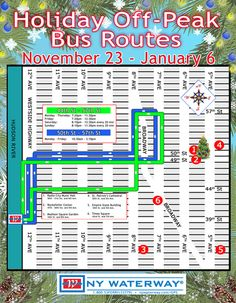 NY Waterway Holiday Bus Routes