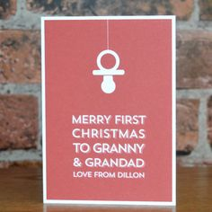 Merry First Christmas Card for Granny And Grandad Personalised Christmas Cards, First Christmas, Personalized Gifts, Merry, Unique, Personalized Christmas Cards, Personalised Gifts