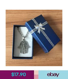 Necklaces & Pendants Silver Antique Hamsa Hand Aramaic Fatima Turkey Evil Eye Pendant Men Necklace #ebay #Fashion