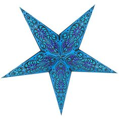 "PaperLanternStore.com 24"" Blue Peacock Paper Star Lantern, Hanging Decoration * Continue to the product at the image link. (This is an affiliate link) #PowerHandTools"