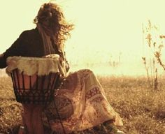 Djembe: hand drum solo with the Universe... Don't know who this is, but I liked the image... and I adore skin drums w/ the hair on...