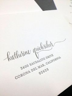 Wedding invitation envelope with designsgirl calligraphy/Francis Orr Corona del Mar