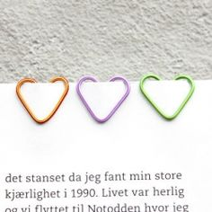 How to make heart-shaped paper clips