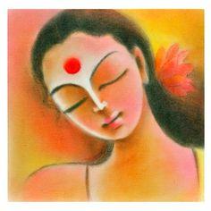 Art Drawings For Kids, Pencil Art Drawings, Drawing Faces, Saraswati Painting, Madhubani Painting, Fish Paintings, Indian Art Paintings, Fabric Painting, Painting & Drawing