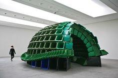 Carapace : plastic garbage bins