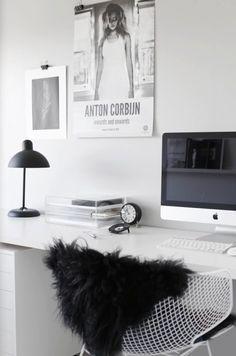 Apple ❤ black&white ❤ soo much easy ❤ best of..,bedroom ❤interier❤
