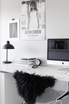 Apple ❤ black&white ❤ soo much easy ❤ best of..,bedroom ❤interier❤