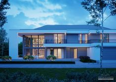 House in modern style with usable area Modern Exterior House Designs, Dream House Exterior, Modern House Design, Contemporary House Plans, Modern Contemporary, 5 Bedroom House Plans, Model House Plan, Home Fashion, My Dream Home