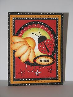 LOVE this card with the colors and design from http://wizardshangout.blogspot.com