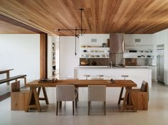 wood stainless modern lamp kitchen dining architecture Japanese Trash masculine design ymmv tastethis inspiration