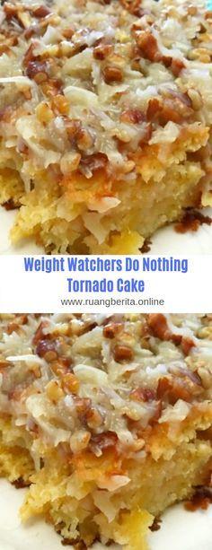 Weight watchers Do Nothing Tornado Cake - Food Recipes Ww Desserts, Sweet Desserts, Healthy Desserts, Delicious Desserts, Yummy Food, Healthy Recipes, Eat Healthy, Yummy Drinks, Weight Watchers Brownies