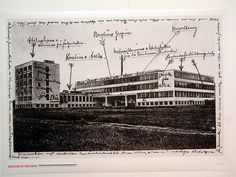 Walter Gropius' Bauhaus Dessau building (1926) with notes