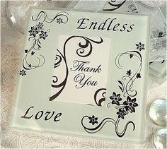 Endless Love Glass Photo Coaster Favors