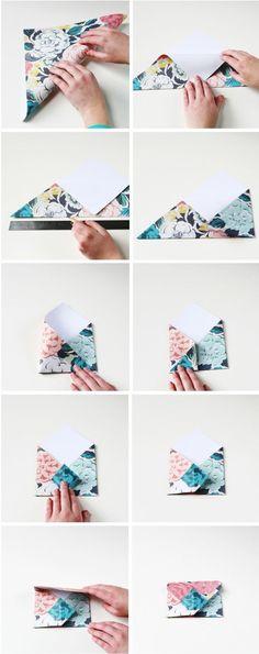 How to make Diy Origami Envelopes | Gathering Beauty