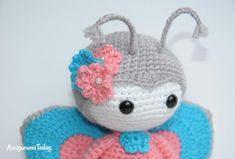 Capture the elegant beauty of this amigurumi doll in butterfly costume! It's a great spring amigurumi pattern to work on. Giraffe Costume, Ladybug Costume, Butterfly Costume, Butterfly Dress, Crochet Butterfly Pattern, Crochet Patterns, Half Double Crochet, Single Crochet, Dragon Costume