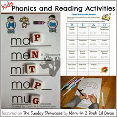 FREE reading and phonics printables for kids - great for summer learning