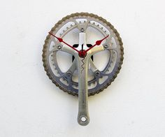 Recycled Bike Crank Arm Clock by pixelthis on Etsy