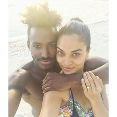Lenny Kravitz's cousin DJ Ruckus proposed to his girlfriend, Shanina Shaik, with not one, but TWO Lorraine Schwartz diamond rings -- check out the rings and how he proposed here!