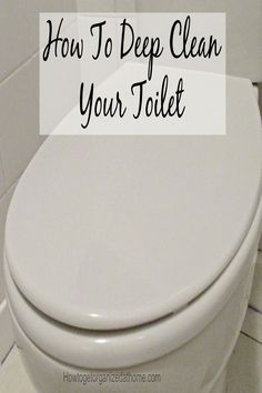Getting your toilet deep down clean is important and doing it with natural products is really easy and healthier for the environment and your health too.