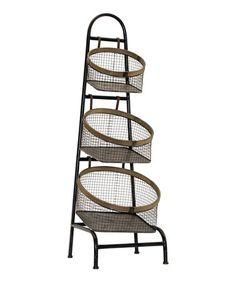 Loving this Three-Tier Standing Basket on