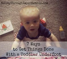 How to get things accomplished with toddlers underfoot. Could also be called how to clean your house when the kids keep making messes ;) Perfect! every mom of littles needs these tips for reference!