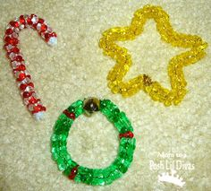 Mom to 2 Posh Lil Divas: Easy Bead Ornaments for Kids