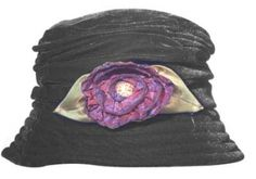 The Gilded Lily Home: New Hats for Fall From Toucan Hats - Velvet Rose Cloche Hat, $51
