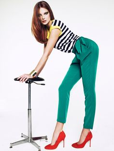 Eniko Mihalik for Mango Color & Stripes Lookbook