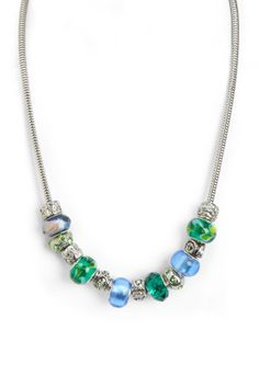 Patricia Emerald Mosaic Bead Necklace
