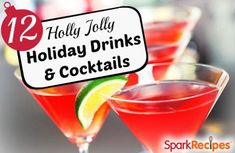 12 Holly Jolly Holiday Drinks. | via @SparkPeople #holiday #drinks #recipes