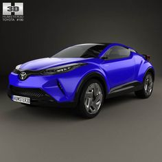 Toyota C-HR 2014 3d model from humster3d.com. Price: $75