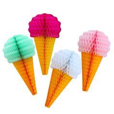 Honeycomb Ice Cream Cone, Mint