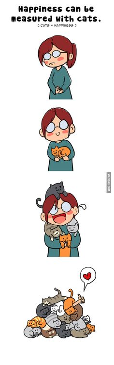 Happiness is cats