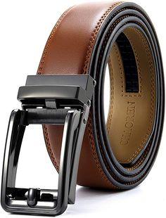 Men's Belt, Bulliant Leather Slide Belt for Men Dress with Click Buckle, Trim to Exact Fit,Big&Tall - Black/Light Waist Adjustable Leather Belts, Pu Leather, Tactical Belt, Mens Braids, Branded Belts, Big & Tall, Punk Fashion, Italian Leather, Men Dress