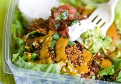 Taco Salad from One Lucky Duck