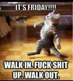 Friday at work.