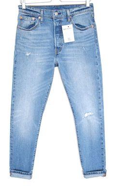 971da3dac81e9 Levis 501s SKINNY High Rise Blue RIPPED Distressed Stretch Jeans Size 12  W29 L28  fashion