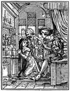 Artist: Holbein d. J., Hans, Title: »The Dance of Death« 24, The Nun, Date: 1524-26