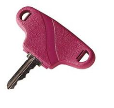 These enlarged key turners, by Carex, are designed to make it easier for your elderly loved one to twist a key. Turning the key is accomplished with minimal effort because the design of the key turner increases the elderly person's leverage. Each package comes complete with two different colors that snap over any standard key, so seniors can easily identify each one.
