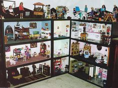 Barbie Display of OOAK 4 story dollhouse dollhouse dream house dreamhouse - From Barbie Bazaar magazine 2001 article - Barbie Collection Display Barbie Room, Play Barbie, Barbie Doll House, Barbie Life, Barbie World, Barbie And Ken, Barbie Stuff, Doll Stuff, Barbie Clothes