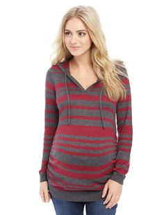 Side Ruched Maternity Hoodie | Motherhood Maternity