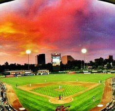River Cats under the lights...