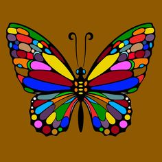 Butterfly Wallpaper, Butterfly Art, Kindergarten Drawing, Butterfly Coloring Page, African Crafts, Butterfly Pictures, Animal Coloring Pages, Diy Canvas Art, Rock Crafts