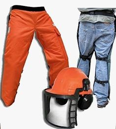 8db3b7d3719 Chain Saw Safety Chaps 36  Leg Plus Deluxe Safety Helmet Chainsaw Safety  Gear