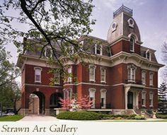 STRAWN ART GALLERY 331 West College Ave Visit this beautiful, historic structure, featuring monthly changing art exhibits and permanent coll. Jacksonville Illinois, Small Colleges, Old Victorian Homes, Visitors Bureau, Historical Sites, Nostalgia, Art Gallery, Spaces, Mansions