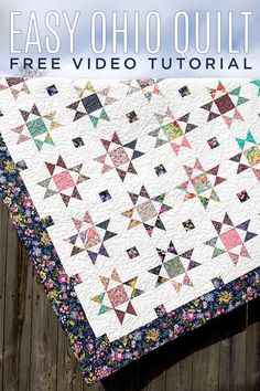 Raise your hand if the Ohio Star block is on your quilting bucket list! This is such a beautiful quilt block and so much easier to achieve than you might think! All you need is some small hourglass bl